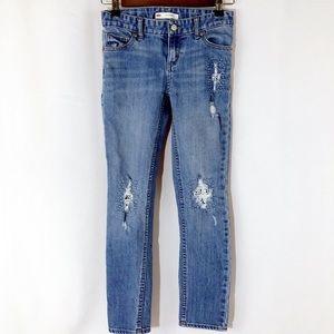 Girl's Levi's Distressed Boyfriend Jeans sz 8